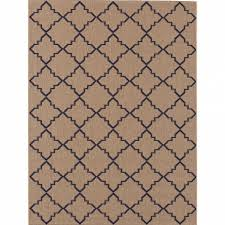 hampton bay moroccan tile beige navy 8 ft x 10 ft indoor outdoor inside