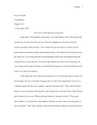 poem final paper imperfect enjoyment