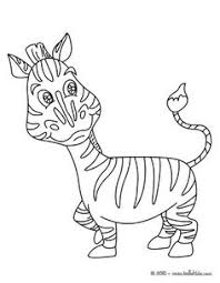 Small Picture Happy little zebra animal coloring page Zebra Coloring page