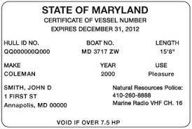 Certificate Boat com™ Of Ed Number Vessel Md