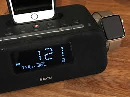 The Apple Watch charger is straightforward  it's a built-in charging disc  on the side of the alarm clock radio. It doesn't support Nightstand mode,  ...