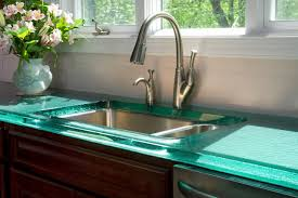 Kitchen Countertop Modern Countertops From Unusual Materials Ideas Material  Glass
