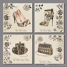 2018 retro lady girls handbag decoration wall art picture high heeled shoes canvas painting living room home decor unframed from xiaofang8810  on shoe wall art high heels with 2018 retro lady girls handbag decoration wall art picture high