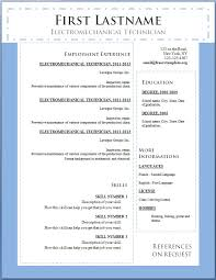 Gallery Of Template For Resume In Word Word Resume Template Free