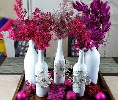 How To Decorate A Wine Bottle For Christmas Easy and Elegant Wine Bottle Christmas Décor Centerpiece 46