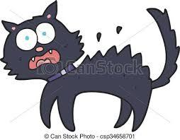 scared black cat clipart. Interesting Clipart Cartoon Scared Black Cat  Csp34658701 To Scared Black Cat Clipart L