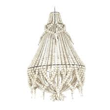 shades of light coastal retreat aged wood beaded chandelier white wood bead chandelier white wooden bead