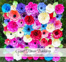 Giant Paper Flower Backdrop Giant Paper Flowers Flower Backdrop Paper Flower Templates Etsy