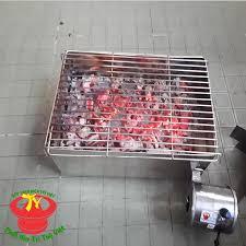 Nướng ngoài trời nhanh chóng, đơn giản và ngon bổ dưỡng cùng bếp nướng than  vuông có quạt gió