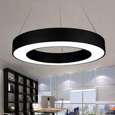 Office pendant light Ceiling Modern Office Led Circle Pendant Lights Round Suspension Hanging Pendant Lamp Ring Chandelier Lighting Fixtures Ring Type Dia 406080cm Clear Glass Pendant Dhgatecom Modern Office Led Circle Pendant Lights Round Suspension Hanging