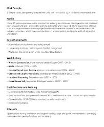 Construction Laborer Resume Resume Template Construction Tradesman