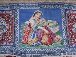 embroidered rug picture antique kilim