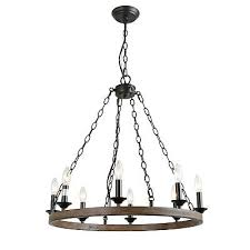 lnc 8 lights farmhouse island pendant wagon wheel lightening chandelier