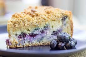 Blueberry Cream Cheese Coffee Cake Dinner then Dessert