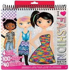 Fashion Angels Design Fashion Angels Fashion Design Sketch Portfolio 11451 Full Size Sketch Book Fashion Coloring For Kids