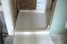 solid surface shower walls pan by how to install corian