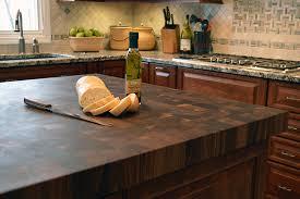 american country style kitchen end grain island cutting board dark walnut top kitchen island