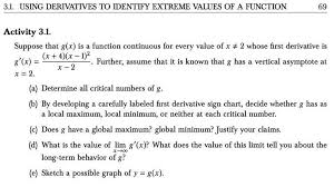 First Derivative Sign Chart Solved Suppose That G X Is A Function Continuous For Eve