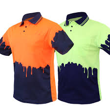 How To Design A Polo Shirt Melted Design Hi Vis Polo Shirt As Nzs 1906 4602 Standard