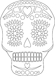 Day Of The Dead Coloring Pictures Free Printable Day Dead Coloring