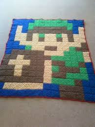43 best video game crochet images on Pinterest | Carpets ... & use block layout for rag quilt - Link Crochet Blanket Afghan Pixel Video  Game by Sminostuff Adamdwight.com