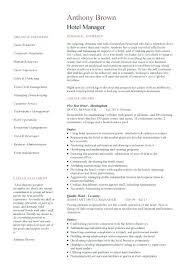 How To Write A Job Summary Inspiration How To Write A Job Summary For Resume Hotel Manager Template