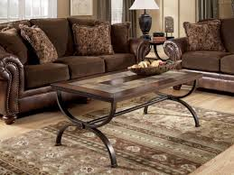 round coffee table and end tables ashley tile top table ashley furniture slate coffee table