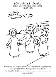 Tranh tô màu - Chúa Nhật VI Phục Sinh - Năm B – Tổng Giáo Phận Hà Nội