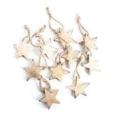 10 Stück Holzsterne Sterne Holz Weihnachtssterne 5 Cm Braun Hellbraun Natur Weihnachtsanhänger Anhänger Christbaumschmuck Baumschmuck
