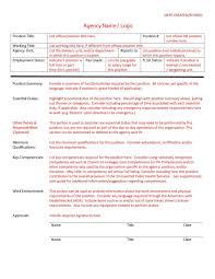Job Qualification List 47 Job Description Templates Examples Template Lab