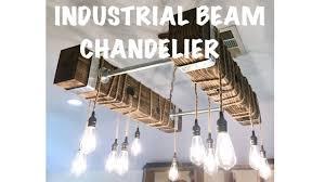 industrial edison bulb chandelier diy
