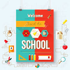 School Poster Designs Back To School Vector Poster With Aicons Design Elements Royalty