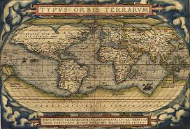 sea monster world map. Contemporary Monster 15th Century With Sea Monsters Antique World Map In Monster N