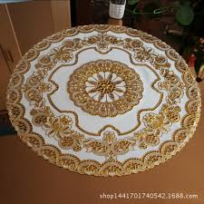 hollow plastic tablecloth round table mat mat table cloth bronzing pvc table cloth round table mats