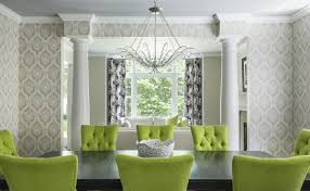 green dining room furniture. Mesmerizing Lime Green Dining Chairs For Your Room Design: Marvelous With Black Furniture