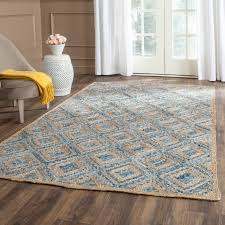 safavieh cape cod handmade natural blue jute natural fiber rug 8 x 10 cap354a 8 is a handmade rugs that is made from jute mainly use for indoor