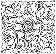 Printable Flowers Coloring Pages Simple Coloring Pages For Kids