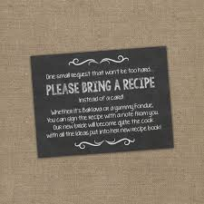 best 25 bridal shower invitation wording ideas on pinterest Wedding Invitation Bring A Guest ask guests to share their favorite recipes to make a cookbook for the bride please bring a recipe (but not instead of a card) insert for bridal shower wedding invitation bring a guest
