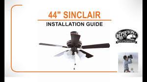 sinclair ceiling fan installation guide