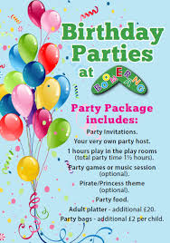 Children Birthday Invitations Childrens Birthday Parties At Boomerang Play Centre Bury