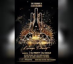 Black Flyer Backgrounds Black Gold Party Flyer Template