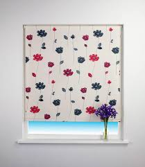 Floral Trail Blackout Roller Blind Red | Free UK Delivery | Terrys ...