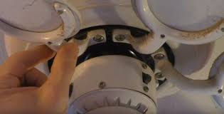 remove the blades from a fan caked with grease