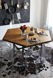 hexagonal dining table. diy hexagon table hexagonal dining 7