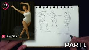 Gesture Drawing Demo Part 1 Of 3 1 Minute Poses