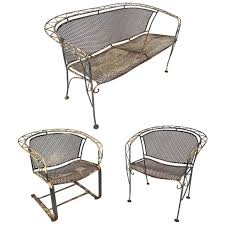 vintage salterini style wrought iron patio set for