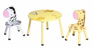 labels wooden round kids table