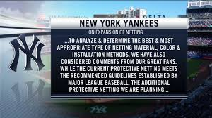Yankees To Expand Netting At Yankee Stadium And George M Steinbrenner Field