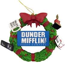 Image Michael Scott Dunder Mifflin Wreath Ornament 12 Pinterest Keep Dunder Mifflin Alive With These Gifts For Fans Of The Office