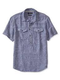Camden Fit Linen Popover Shirt Banana Republic Mens